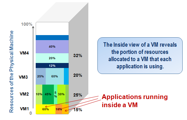 The inside view of a VM is critical for additional diagnosis