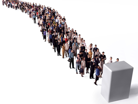 graphic of long-queue-people