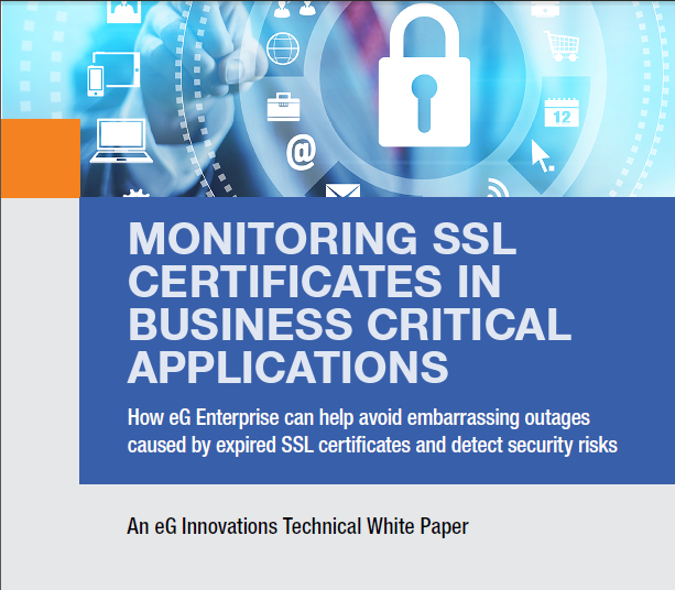 Download Monitoring SSL Certificates in Business Applications White Paper