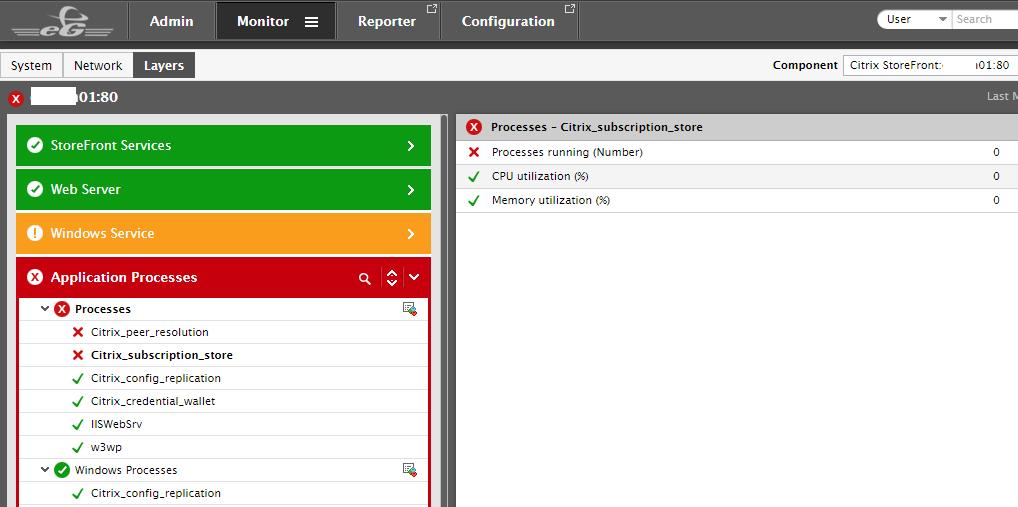 Storefront server monitoring