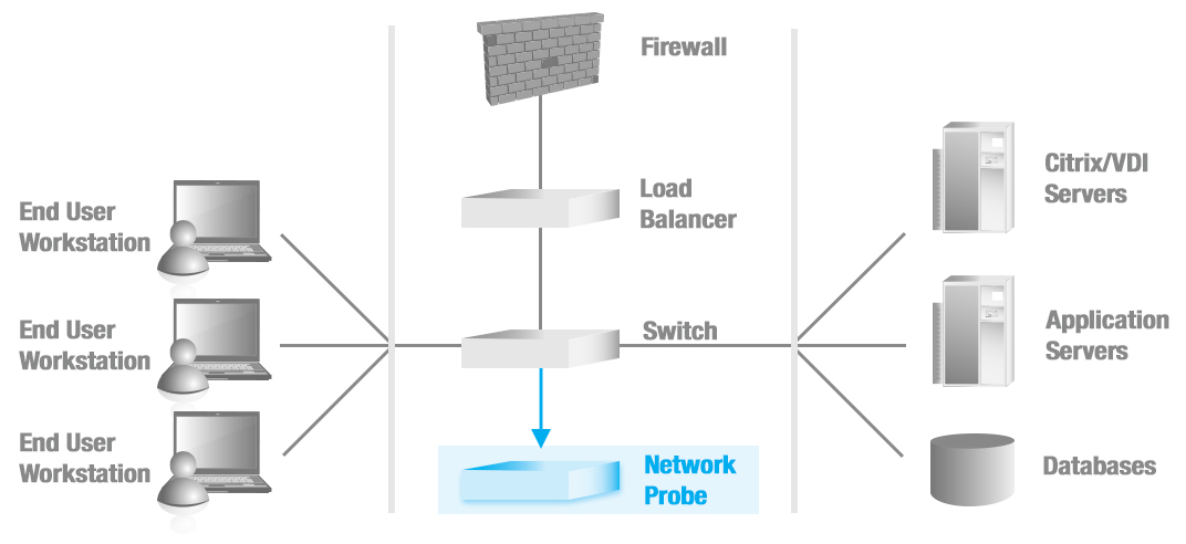 Network monitoring with probe