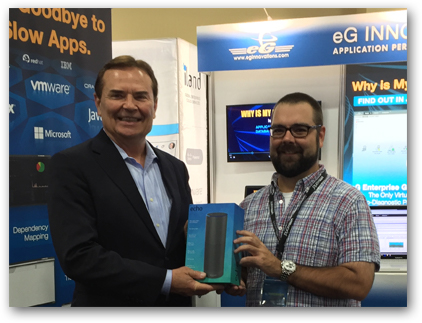 eG Innovations at VMworld 2016 - Echo Winner, Tim Patterson, Cincinnati Children's