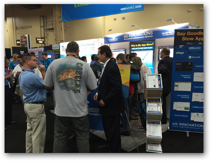 eG Innovations at VMworld 2016 US - booth