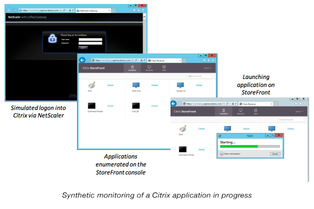Citrix Synthetic Monitoring