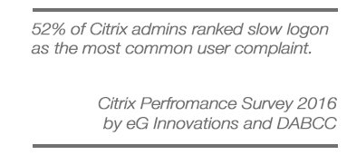 Monitoring Citrix Logon Performance