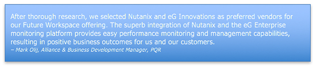 Nutanix Monitoring with eG Enterprise