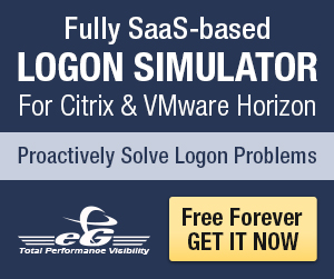 Free Tool from eG Innovations for IT Pros – Logon Simulator for Citrix and VMware Horizon