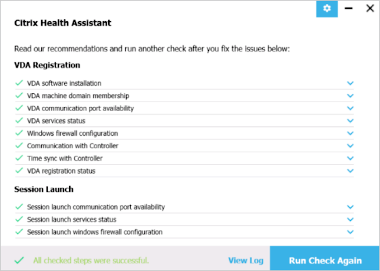 Citrix Health Assistant