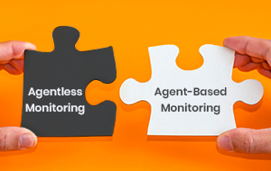 A combination of Agentless and Agent based monitoring is usually required for most infrastructures.