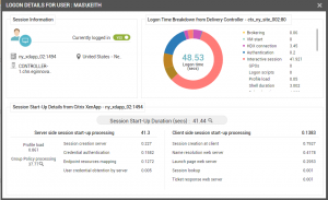 Monitoring the Citrix logon process is an important part of user experience management