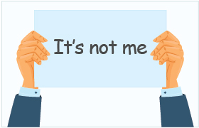 No More It is Not Me