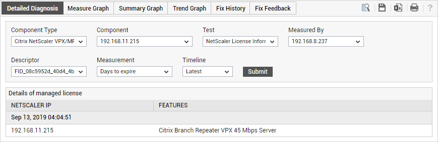 ADC License Monitornig with eG Enterprise v7 allows you to track your Citrix ADC licenses so they are always valid.