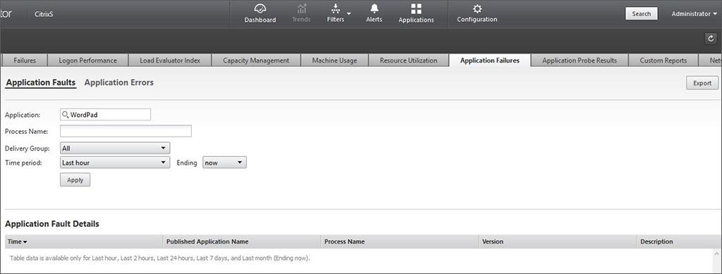 Application Launch Screen