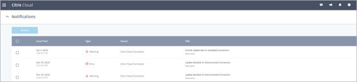 Citrix Cloud Monitoring Information form.