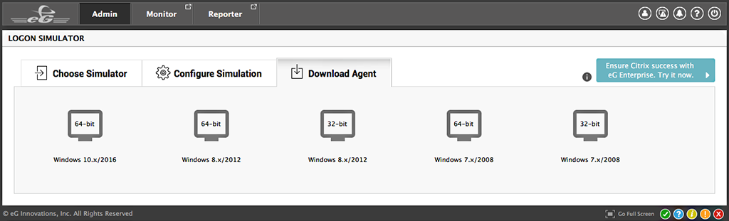 Download and install the lightweight agent on the target system