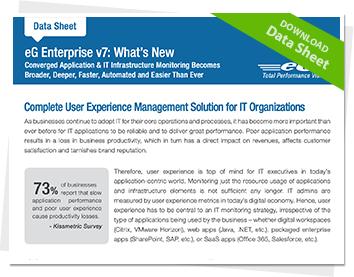 What's New in eG Enterprise v7