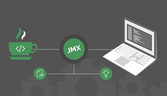 JMX monitoring collects performance metrics about the applications in the infrastructure