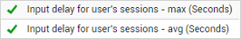 Input Delay for User Sessions