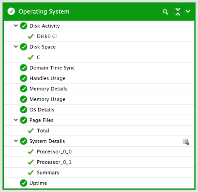 Operating System view for the Citrix Cloud Connector