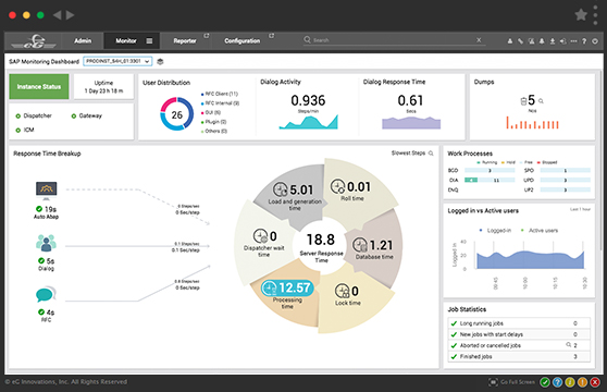 eG Enterprise v7 provides a new SAP  monitoring dashboard