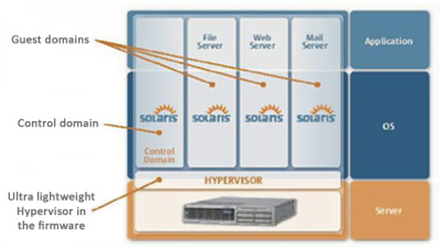 Solaris LDoms Server Architecture